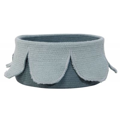 Basket Petals Vintage Blue - Dark Green