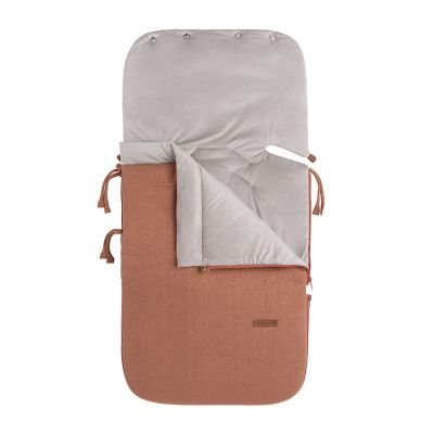 Fusssack für Babyschale Sparkle copper-honey meliert