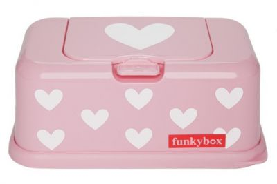Funkybox Pink White Hearts