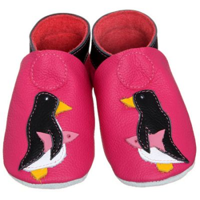 Dolcino Schuh 6-12 Monate Pinguin Pink