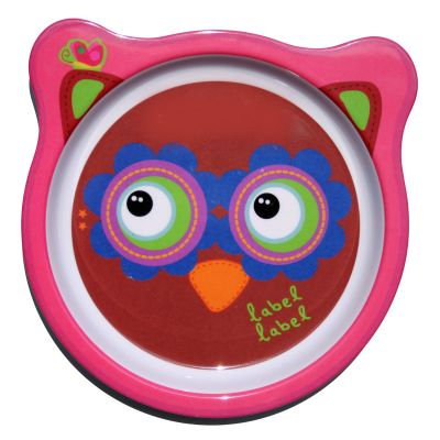 Label-Label - Friends - Melamine Plate Owl Girls