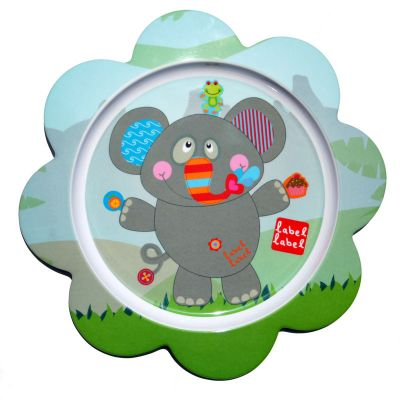 Label-Label - Friends - Melamine F-Plate Elephant