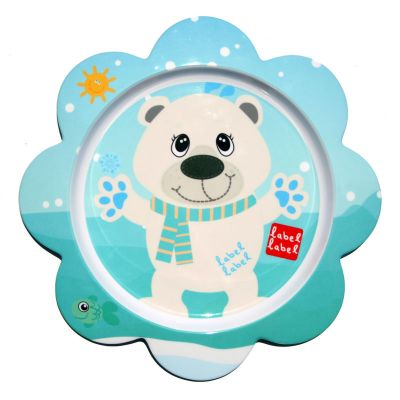 Label-Label - Friends - Melamine F-Plate Polar Bear