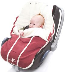 Wallaboo! Footmuff newborn warm red