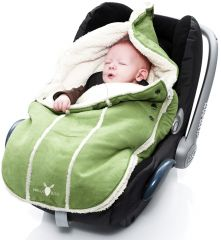 Wallaboo! Footmuff newborn lime green