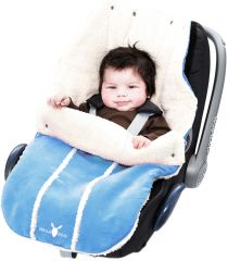 Wallaboo! Footmuff newborn soft blue