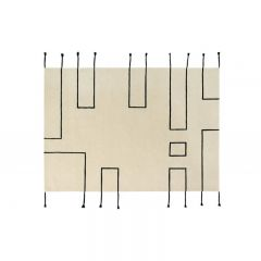 Wool Rug Nordic Lines Natural 170 x 240 cm