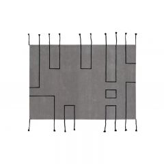 Wool Rug Nordic Lines Light Grey 170 x 240 cm