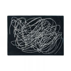Scribble Black & White 170 x 240 cm