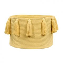 Basket Tassels Yellow 30 x 45 x 45 cm