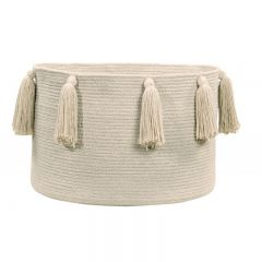 Basket Tassels Natural 30 x 45 x 45 cm