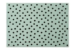 Dots Mint - Black 140 x 200 cm