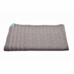 Babydecke Zopf taupe