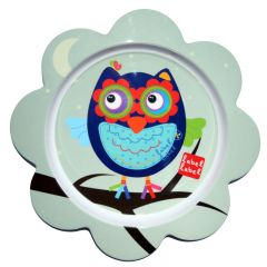 Label-Label - Friends - Melamine F-Plate Owl Boys