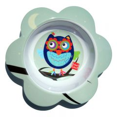 Label-Label - Friends - Melamine F-Bowl Owl Boys