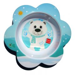 Label-Label - Friends - Melamine F-Bowl Polar Bear