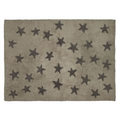 Messy Stars Linen Dark Grey 120 x 160 cm